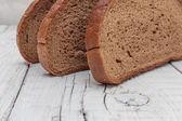 Slices of rye bread — Stock Photo
