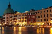 Venedik gece grand canal — Stok fotoğraf