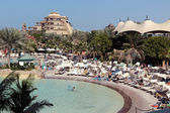 Aquaventure waterpark of Atlantis the Palm hotel — Stock Photo