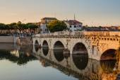 Bridge of Tiberius  in Rimini, Italy.  — Foto Stock