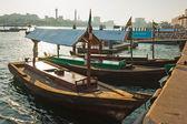 Abra ferries at the creek in Dubai — Stock Photo