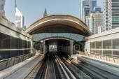 Metro subway tracks in the Arab Emirates — Stok fotoğraf