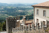 Fortress on a cliff in San Marino — Stock Photo