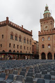 Piazza Maggiore with Accursio Palace. — Stock Photo