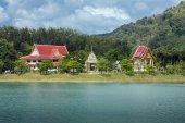 Buddhist temple on the island of Phuket — Stock Photo