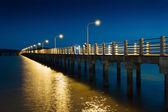 Pier on the sea at night — Stock Photo