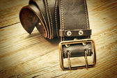 Leather belt with a buckle — Stockfoto