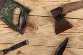 老木工工具 — 图库照片