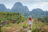 Girl  in the tropics of Thailand — Foto de Stock