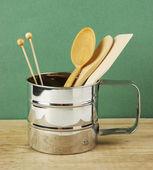 Wooden kitchenware — Stock Photo