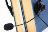 Headphones with microphone — Stock Photo