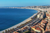 General view of the promenade of Nice — Stock Photo