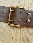 Leather belt with a buckle — Stock Photo