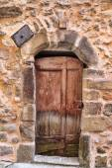 Eski evin girişine — Stok fotoğraf