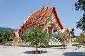 Black monk temple — Stock Photo