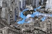 Layout of the city in Dubai Mall — Stockfoto