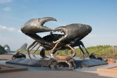 Crab skulpture in Thailand — Stock Photo
