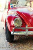Vintage red carOCTOBER 31, 2014  FRANCE - — Stock Photo