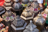 Arabic metal streetlights — Stock Photo
