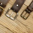 Leather belts with a buckles — Stockfoto #59443167