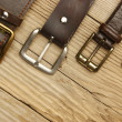 Leather belts with a buckles — Foto de Stock   #59443167