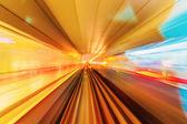 Pista di metro metropolitana — Foto Stock