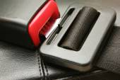 Seat belt on chair — Stock Photo