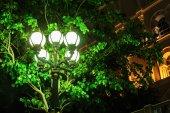 Streetlight at night — Stock Photo