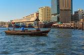 Traditional Abra ferries in Dubai, — Stock Photo