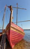 Traditional old wooden sailing boat — Stock Photo