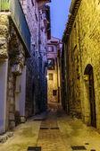 Narrow street in town Peille — Stock Photo