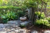 Green Japanese garden — Stock Photo