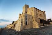 Medieval fortress at dawn Antibes — Zdjęcie stockowe