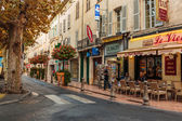 Street in the old town Antibes — Stock fotografie