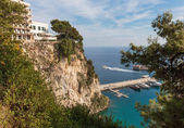 Panoramic view of Monte Carlo harbour — Stockfoto