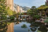 Japanese garden in Monte Carlo — Stockfoto