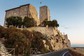 Medieval fortress at dawn Antibes — Foto de Stock
