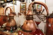 Ancient perfume laboratory in the village Gourdon — Stock Photo