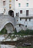 Stone Bridge in the old town — Stock Photo