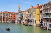 Canal Grande v Benátkách — Stock fotografie