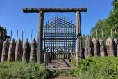 Old wooden fortification — Stock Photo