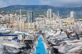 Panoramic view on marina and resident — Stock Photo