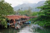 Fishing village in Southeast Asia — Stock Photo