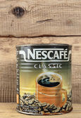 Old tin can of coffee Nescafe — Stock Photo