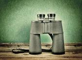 Old travel binoculars — Stock Photo