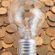 Light bulb with coins — Stock Photo #74774761