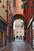 General view of the downtown streets Bologna — Stock Photo