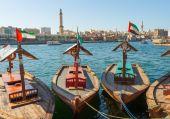 Ship in Port Said in Dubai, UAE.  — Stock Photo