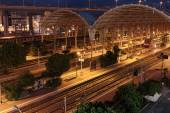Railway Station In Nice at night, France — Stock Photo