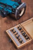 Round-over router bits for woodworking — Stock Photo